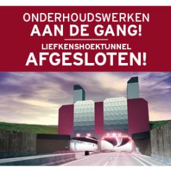 Maandelijkse tunnelwas voor Liefkenshoektunnel op 21 en 22 oktober